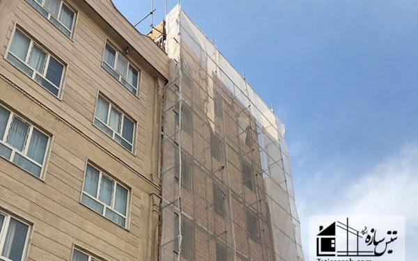 پروژه پوشش ضد حریق مسکونی خیابان دماوند