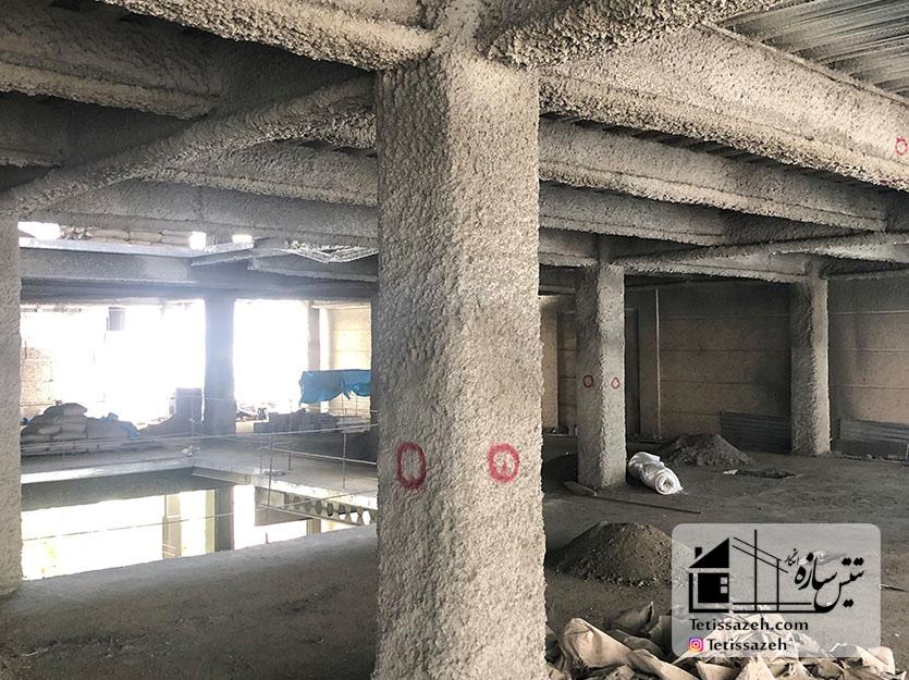 پروژه پوشش ضد حریق مسکونی-زعفرانیه